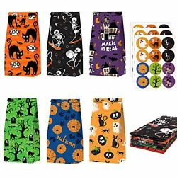 24pcs Halloween Paper Bags Halloween Party Gift Bags Candy Pumpkin Bags with $10.86