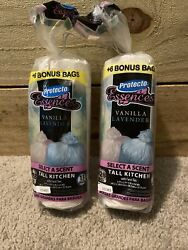 TWO PACKS OF SCENTED SMALL KITCHEN BAGS VANILLA LAVENDER 28 Bags Each 13 GALLON $11.90