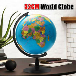 12.5quot; Stand Rotating World Globe Map Gift School Student Geography Educational $30.50