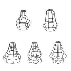 Vintage Metal Guard Pendant Light Bulb Cage Ceiling Hanging Lampshade 5 Style $13.45