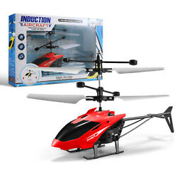 Flying Toy Mini Drones Helicopter Toys USB Sensor Children LED Hand Remote Plane $8.65