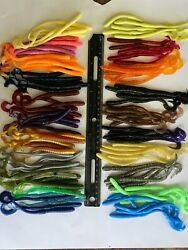 99 pc ASSORTMENT of BASS FISHING WORMS Lures Soft Plastic Baits Assorted Styles $13.99