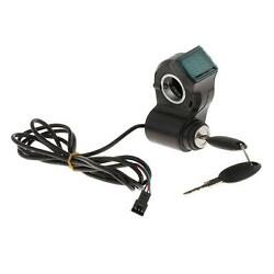Electric Scooter Bike Meter Lock Key Switch Voltage Thumb Throttle Display $11.52
