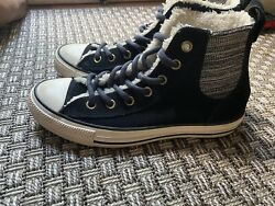 Converse Chuck Taylor All Star Women Size 8 Fleece Lined Suede High Top Shoes $33.75