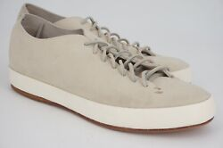 WORN 2x $500 FEIT HAND SEWN LOW SUEDE EU 44 US 11 GREY GRIEGE LEATHER SOLE BOX