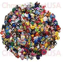 Lot of 50 100 200 Different Random PVC Shoes Charms For Crocs amp; Wristbands $10.99