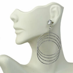 Circles Halo Round High Quality Plated With Zircon Drop And Chandelier Earrings $15.86