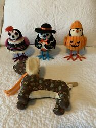 Target Halloween 2018 Birds Day of the Dead Patches Pumpkin Fall Dog Lot Of 4 $44.00