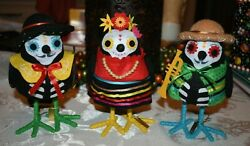 TARGET 3 DAY OF THE DEAD BIRDS Guitarrista Trompetista Cantante HALLOWEEN $50.00
