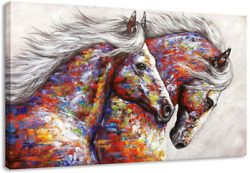 Animal Framed Wall Art for Living Room Bedroom Home Decor Colorful Two Running $78.82