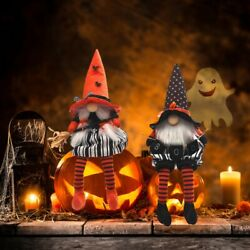 Halloween Mr and Mrs Gnome Plush Elf Decorations for Halloween Table Ornaments $10.45