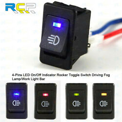 Fog Lamp ON OFF Button Switch 4 Pins LED Indicator Light OEM Replacement US $26.78