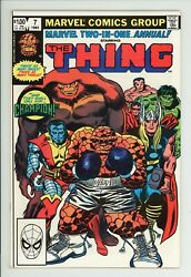 Marvel Two In One Annual 7 1st Champion High Grade 9.2 NM $34.99