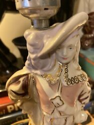 Hand Decorated William FB Johnson Vintage Lamp Colonial $14.99