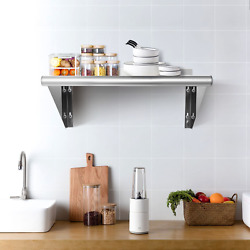 12 ×36 Stainless Steel Commercial Wall Mount Shelf for Kitchen and Restaurant