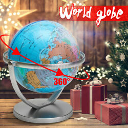 7inch 360° Rotating Stand World Globe For School Home and Ofiice Desk Decor $15.95