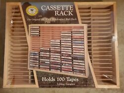 Napa Valley Box Company Wood 100 Cassette Tape Wall Storage Holder Rack Case. $75.00
