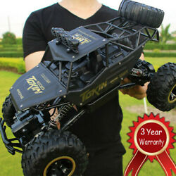 Electric RC Cars Remote Control 4WD Monster Truck Off Road Vehicle Black Gifts $40.48