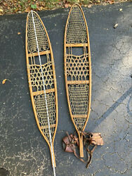 """World War II US Military Issued 56"""" Alaska pattern Snowshoes With Bindings $325.00"""