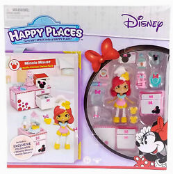 Shopkins Disney Happy Places Minnie Mouse WAFFLE KITCHEN Theme Pack Goldie Bow $51.95