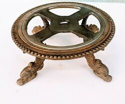 Shabby Vintage Round Footed LAMP BASE Dolphin Fish Feet $13.50