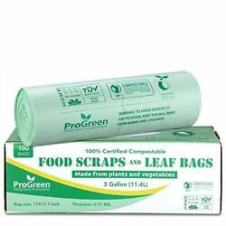 ProGreen 100% Compostable Trash Bags 3 Gallon Extra Thick 0.71 Mil 100 Count $22.08