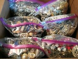 Jewelry Vintage Modern Huge Lot Craft Junk Wearable Resell Over One Full Pound $24.99