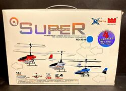 Collectible XIEDA Super Uncommon #9998 Blue Thunder HELICOPTER RC W Box $59.99