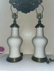 Set of White Antique Lamps no lamp shades $128.00