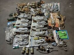 Lot of Vtg Electric Lamp Parts Accessories Brass Socket Shell Oil Lamp Adapters $89.99