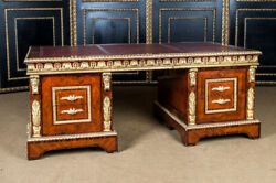 Imposing French Desk IN Style Louis Fourteen $10412.10