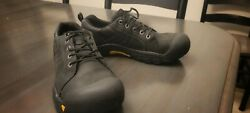 Keen shoes womens 8 39 comfort hiking black leather shoes sneakers walking $35.00