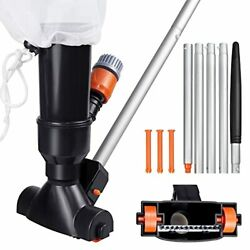 Portable Swimming Pool Jet Vacuum Cleaner Underwater with 5 Section Pole and ... $27.42