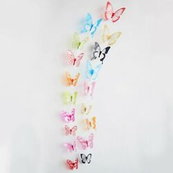 18pcs 3D Butterfly Design Decal Art Wall Stickers Room Decorations Home Decor $1.98