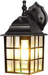 DEWENWILS Dusk to Dawn Outdoor Lighting Exterior Wall Sconce with Black