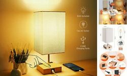 3 Way Dimmable Touch Control Table Lamp Modern Lamp with USB Ports and $37.65
