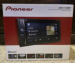 New Pioneer AVH 120BT 6.2 in Double Din Bluetooth Receiver Stereo DVD CD USB AUX $209.99