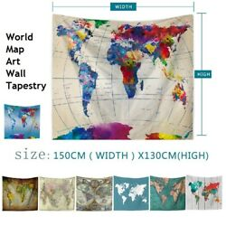 51*59in World Map Wall Tapestry Art Hanging for Bedroom Living Room Dorm Decors $11.55