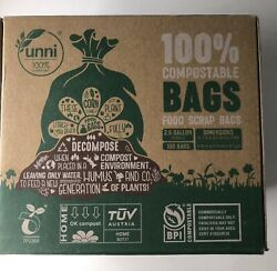 Food Scrap Small Kitchen Trash Compostable Bags 2.6 Gallon 9.84 Liter 100 Count $22.99