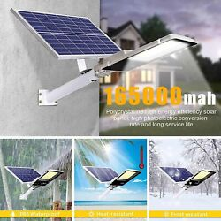 100000LM Commercial Solar Street Light 1800 LED Outdoor Dusk to Dawn Road Lamp