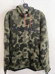 New Champion Sport Mens Long Sleeve Pullover Fleece Camouflage Hoodie Size L $44.99