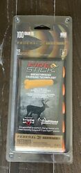 Federal Fire Stick Pre 100 Gr 10 Pack For Muzzleloaders Impervious To Moisture $49.95