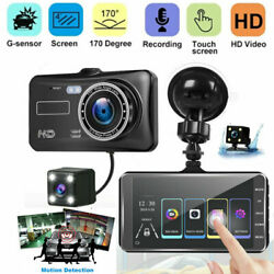 4quot; In Car Camera Recorder Dual Front and Rear HD 1080P Dash Cam Night Vision US $34.03