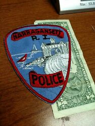 Narragansett Rhode Island Police Department Patch New Old Stock $12.00