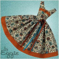 SPICY AUTUMN OOAK Reproduction Vintage Barbie Doll Clothes Dress by Eggie $125.00