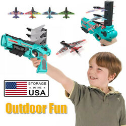 Airplane Launcher Bubble Catapult Plane Toy Catapult Gun Outdoor Sport Toys US $23.99