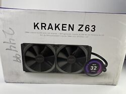 USED NZXT Kraken Z63 280mm AIO RGB CPU Liquid Cooler with LCD Display $195.99