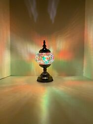 Handmade Stained Glass Mosaic Table Lamp Light Turkish Moroccan For Home Decor $38.99