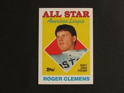Vintage ROGER CLEMENS 1988 Topps #394 American League All Star Double Error Card $74.99