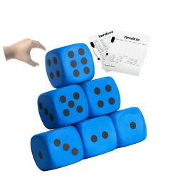 4 Inch Jumbo Foam Dice Set of 6 Yard Outdoor Games for Adults and Family Incl... $31.25